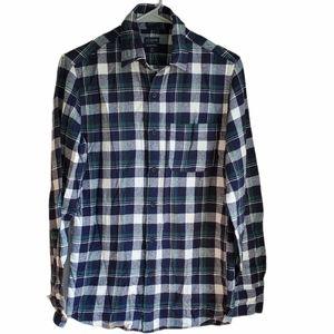 J. Crew classic plaid  flannel shirt NWT xs